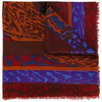 Jean Louis Scherrer Pre-Owned abstract print scarf
