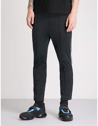 Prada Contrast-piped slim-fit jersey jogging bottoms