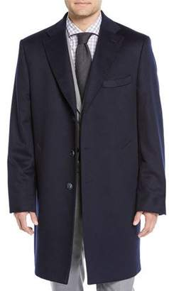 Neiman Marcus Men's Cashmere Three-Button Top Coat