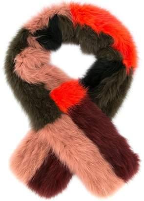 Yves Salomon Accessories colour block scarf
