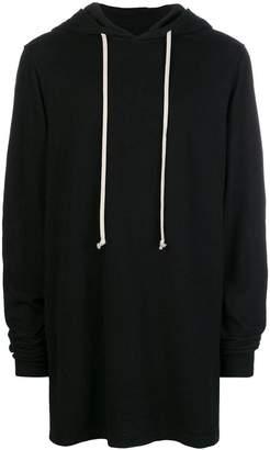 Rick Owens longline plain hoodie