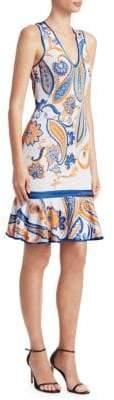 Roberto Cavalli Paisley Peplum Hem Dress