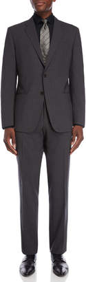 Armani Collezioni Dark Grey G Line Wool Suit