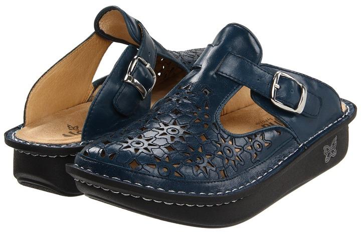 Alegria Classic Cut Out (Dusty Blue Leather) - Footwear