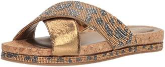 Kenneth Cole Reaction Women's Shore-ly Slip On Flat Slide Sandal with X-Band Straps