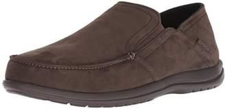 Crocs Men's Santa Cruz Convertible Leather Slip-On Loafer Flat Espresso
