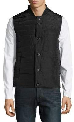 Black & Brown Black Brown Sleeveless Puffer Vest