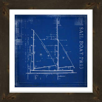 PTM Images Sailboat Gicle Framed Graphic Art