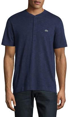 Lacoste Slub Jersey Henley T-Shirt