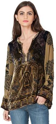 Hale Bob Elisa Silk Beaded Blouse