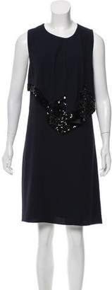 Marni Embellished Peplum Dress