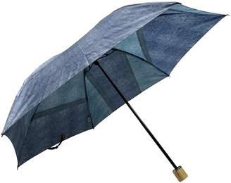 Ring + 【限定/日本製】デニムプリント雨傘(折りたたみ)BLU SR230(C)FDB