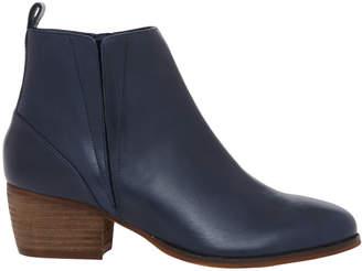 Hird Navy Verona Leather Boot