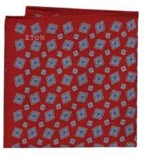 Eton Patterned Silk Pocket Square