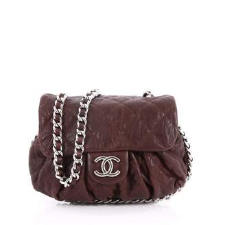 Chanel Burgundy Leather Handbag