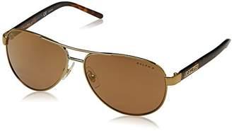 Ralph Lauren Ralph by Women's 0ra4004 Polarized Iridium Aviator Sunglasses