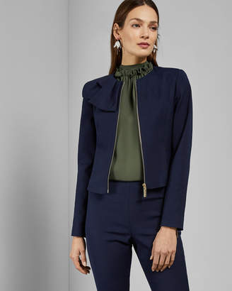 Ted Baker ZAMELII Cropped jacket with bow detail