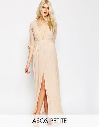 ASOS Petite ASOS PETITE Pleated Flutter Sleeve Maxi Dress $122 thestylecure.com