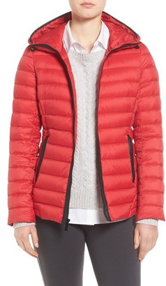 Women's Michael Michael Kors Hooded Down Jacket $228 thestylecure.com