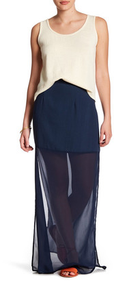 Flying Tomato Semi-Sheer Maxi Skirt $39 thestylecure.com