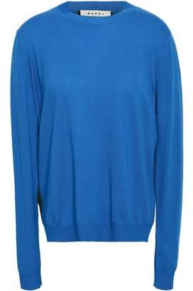 Marni Split-back Wool And Silk-blend Sweater
