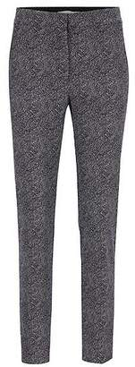 HUGO BOSS Cropped trousers in stretch crepe with dot print