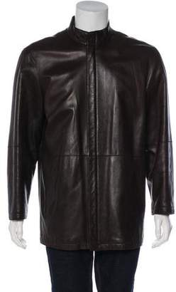 Giorgio Armani Leather Zip Jacket