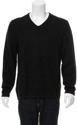 Giorgio Armani Woven V-Neck Sweater