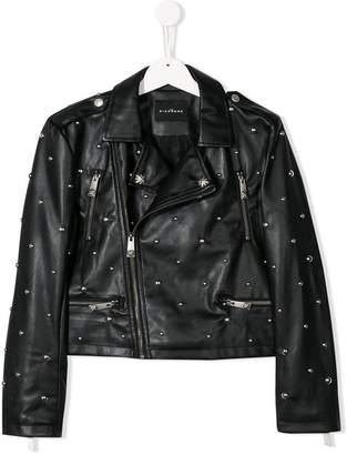 ebb190379e5 John Richmond Junior studded faux leather biker jacket