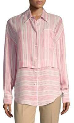 Piazza Sempione Salmon Stripe Shirt