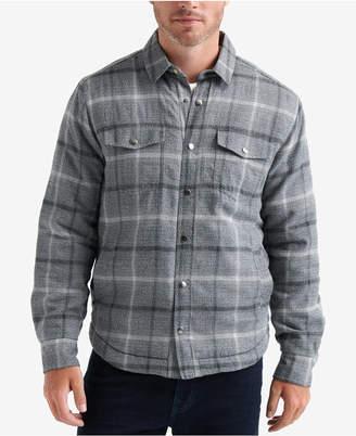 Lucky Brand Men Plaid Shirt Jacket