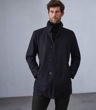 Reiss Angelo Wool Blend Mid Length Coat