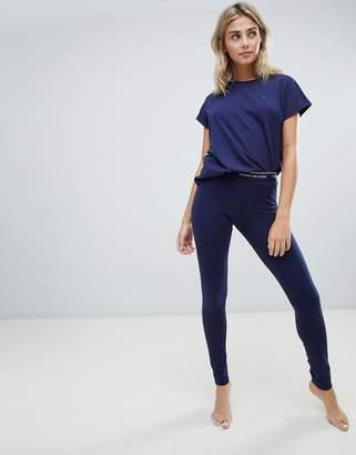 Tommy Hilfiger Short Sleeve T-Shirt and Legging Pajama Set