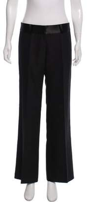 Trina Turk Mid- Rise Wide- Leg Pants