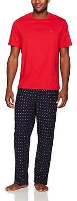 Tommy Hilfiger Men's Cozy Fleece Pajama Pant and T-Shirt Set