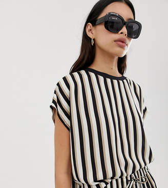 Weekday relaxed fit co-ord t-shirt in mono stripe