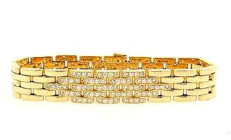 Maillon Panthere 18K Yellow Gold with 1.88ct Diamond Link Bracelet