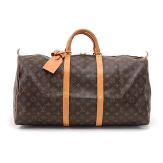 Louis Vuitton Vintage Keepall Brown Cloth Travel Bag