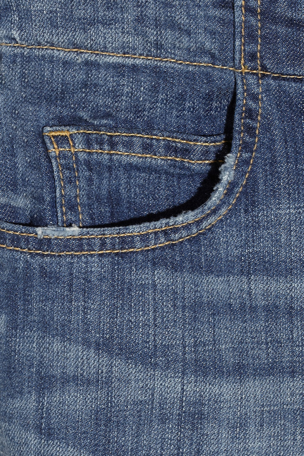 Current/Elliott The Drawstring Boyfriend cropped low-rise jeans