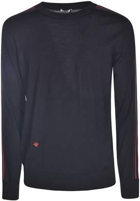 Christian Dior Striped Sleeve Sweater