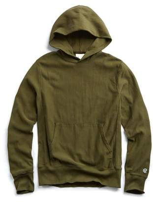 Todd Snyder + Champion Popover Hoodie Sweatshirt in Military Olive