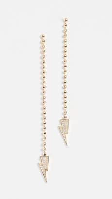 Lightning Bolt Established 18k Gold Dangle Earrings