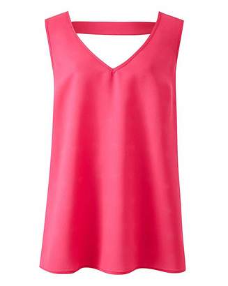 Simply Be Pink V-Neck Vest with Back Detail