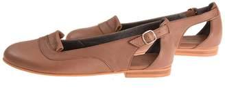 BA&SH Bottega Bash Mocha Leather Loafers