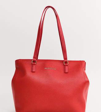b930a4b7e378 Mario Valentino Valentino By Valentino by tumbled black soft tote bag in red