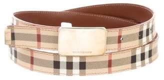 Burberry Logo Nova Check Belt