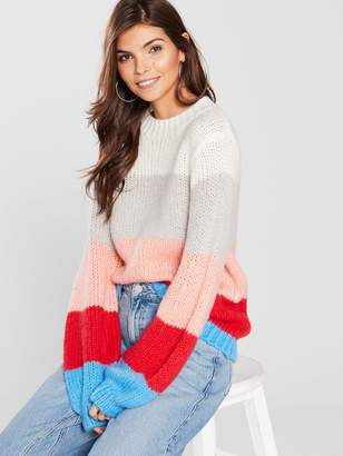 Very Crew Neck Stripe Jumper - Multi