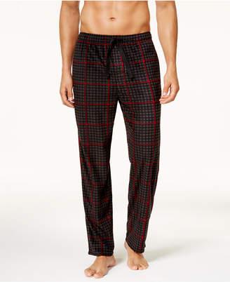 Perry Ellis Men's Houndstooth Fleece Pajama Pants