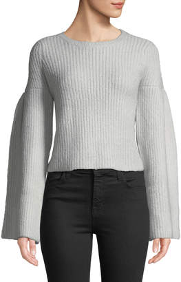 Lovers And Friends Maxine Cropped Flare-Sleeve Sweater
