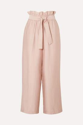 3.1 Phillip Lim Cropped Gauze Wide-leg Pants - Blush